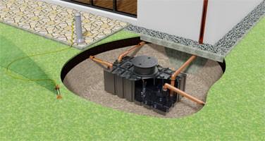 """Greenlife Gartenanlage """"fix"""" Flachtank verschieden Tankgrößen, Erdtank, Zisterne Regenwassernutzung"""