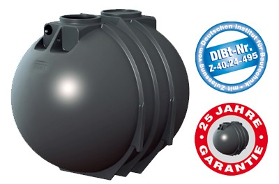 7600 Liter Blackline Abwassertank inkl. DIBt-Zulassung