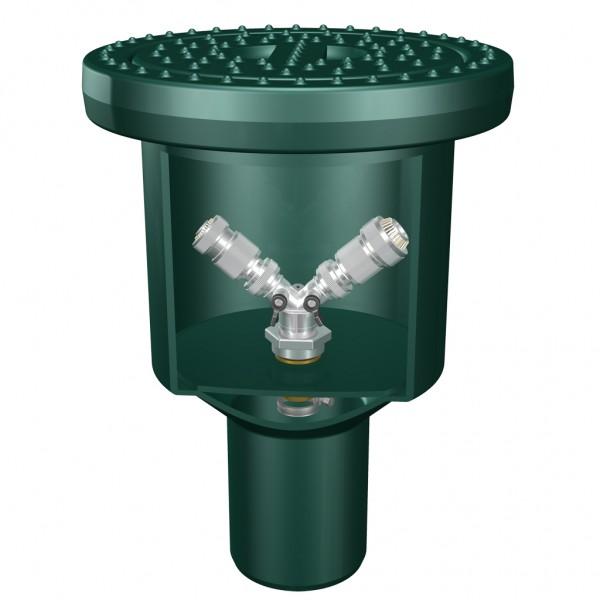 Wasserentnahme-Box mit 2 integrierten Schlauch-Anschlüssen
