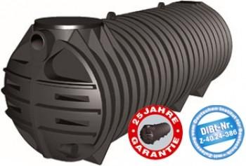 3000 Liter Tubus Abwassertank inkl. DIBt-Zulassung Rewatec
