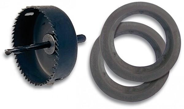 Gummilippendichtung DN100 mit-oder-ohne Lochkreissäge 127mm